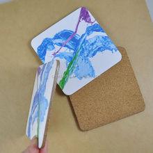 advertising wholesale promotion custom wooden cork coaster/pads/mats