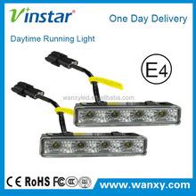 Xenon White Universal Fit Daylight 4w High Power LED Daytime Running Lights (DRL Kit)