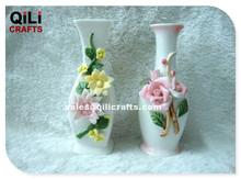 Home decoration 3D flower vase ceramic