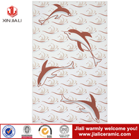 ceramic wall tile 250x400mm living room wall tile with dolphin design