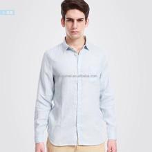 solid color/comfort casual men's shirt/Linen long sleeve comfort casual tshirt/latest design men shirts of 2015