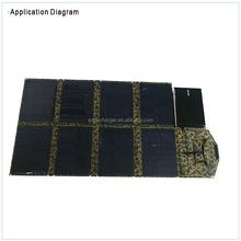 120W dual output sunpower flexible thin film solar panel for 12V car battery ari-condition fridge