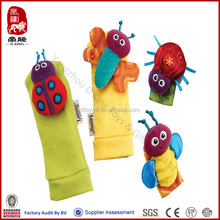 Lamaze garden plush toy for baby bug wrist rattle & foot finder set