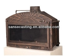Factory direct selling cast iron wood fireplace 28KW