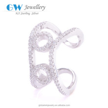 Silver Jewellery Cheapest Diamond Ring New Design Finger Ring Foot Finger Ring