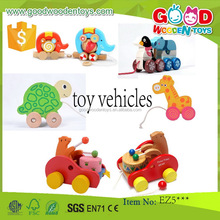 EN71 top sale wooden toy vehicles OEM/ODM educational wooden toy vehicles for kids