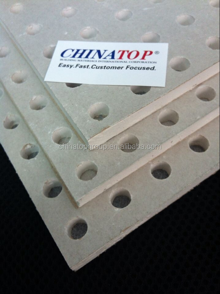 Perforated Gypsum Board ~ Acoustic panel perforated plaster board gypsum