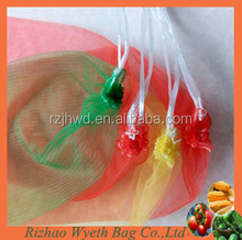 hdpe knitted packing mesh net produce bags with drawstring