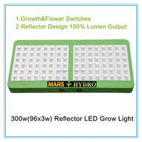 Marshydro 300w(96x3w) Reflector LED Grow Full Spectrum 300w Grow Panel Replace HPS Grow Light For Indoor Green House Hydroponics