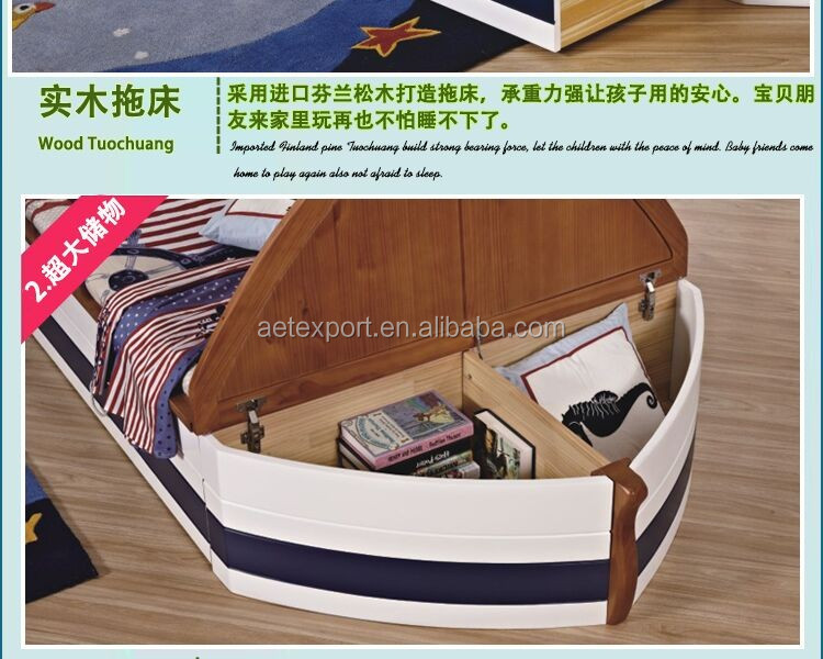 Criativo mobili rio de design crian as piratas do caribe - Cama barco pirata ...