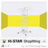 Simple style high quality interior design shop furniture garment display shop displays