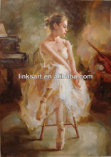 Beautiful high quality dancing girl oil painting