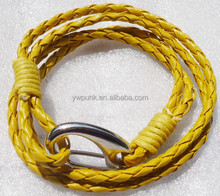 yellow jewelry braided bracelets arm cuff