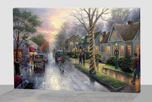 scenery lighted canvas art wall decoration picture for living room