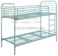 Commercial dorm furniture,cheap metal double dorm bunk bed for sale