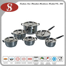 12Pcs Durable cookware set for induction cooker