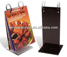 Custom Acrylic Menu Holder for Restaurant