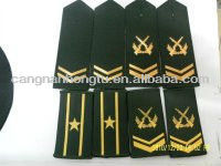 2013 new fashion aluminum military epaulet