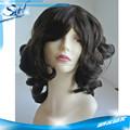 Cor preta natural das mulheres de cabelo substituição sytem, câncer completa cap