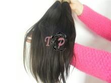 8''-40'' available party / wedding / salon hair extension, natural color brazilian virgin remy human hair bulk