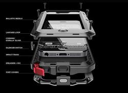 Aluminum Gorilla Glass Metal Waterproof Shockproof Cover Case for iPhone 5 5S 5C