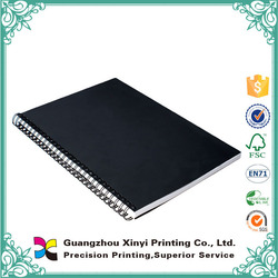 Made in China double Yo binding hotesale one colour printing cheap leather notebook embossed a5