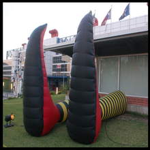giant customized advertising inflatable foot oxford cloth material