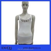 Sunny girl clothing,beaded cotton tanktop,clothing manufacturers overseas