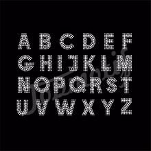 iron-on transfers letters garment accessory rhinestone applique