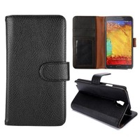 Litchi Texture Stand Leather Flip Case Cover for Samsung Galaxy Note3 neo