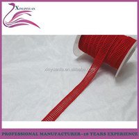 Fancy 28mm width red embroidery lace curtain,curtain lace fabric