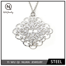 Stainless Steel Laser Cut Hollow Pendant