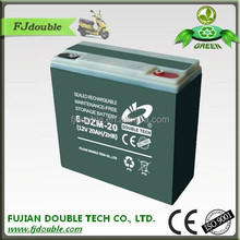 high quality 48v sealed lead acid battery 12v 20ah for e-bike