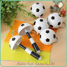 football keychian feature plastic telescopic ballpoint pen
