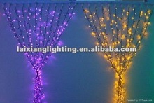 Decorative outdoor/indoor christmas led light curtain design 2012