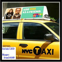 Asram Shenzhen LEDMAN New slim taxi ligt box/Taxi top ADS/Moving advertisements light box sign panel board screen