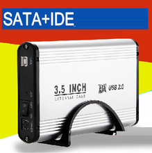 Universal IDE and SATA dual using HDD external case, 3.5'' sata & ide external case