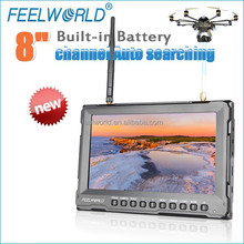 8 inch professional 4:3&16:9 image lcd monitor camera mode 5.8 quadcopter