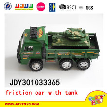 Friction inertia military vehicle Inertia military vehicle containing tanks toy