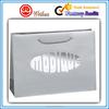 Waterproof luxury silver foiled printed women's shopping paper bag