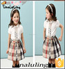 latest new summer plaid clothing cotton kids clothes bulk wholesale clothing sets baby outfits