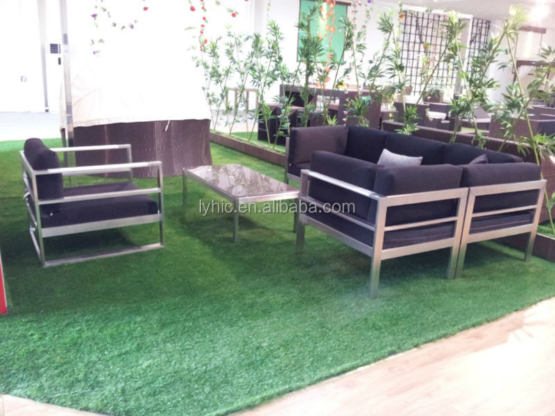 Patio furniture-rattan bullet sofa set LY0017