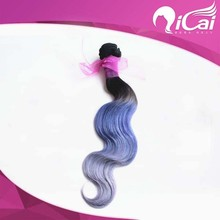 2015 new fasion body wave three tone color 100% brazilian human hair weaving