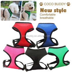 Comfortable and breathable dog harness vest pattern with air mesh material