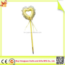promotional cute heart shape stylus magic wand ballpoint pen