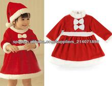 Helper Niños Disfraz Pequeña Srta. Santa 'S Girls Viste a la Navidad del regalo de Navidad 18670#