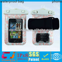 fashion pvc outdoor sports waterproof Diving bag with armband for iphone