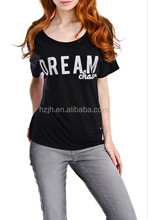 OEM 2015 New Fashion Dream Chaser T Shirt in black