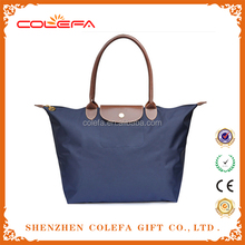 2015 zipper nylon tote bags with mobile phone bag