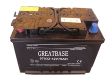 dry charged lead acid automotive battery 12V70ah DIN70 12v dry cell car battery